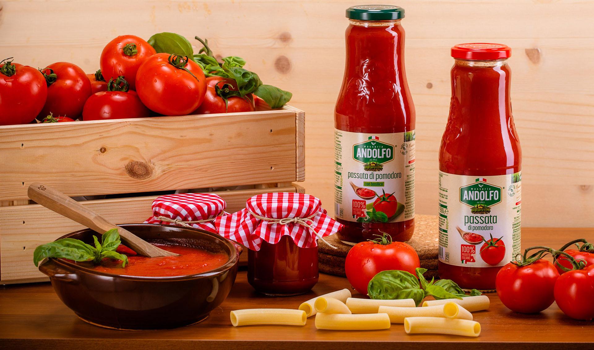 Masseria Andolfo - Passata di pomodoro con e senza basilico