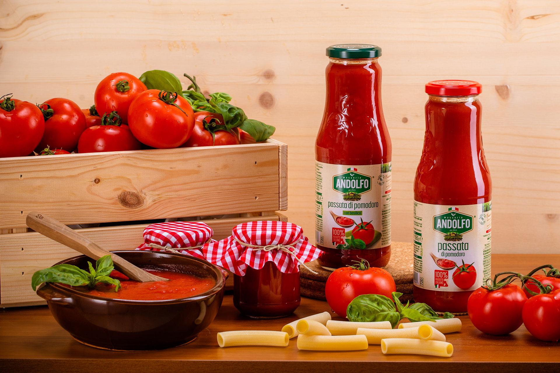 Masseria Andolfo - Passata di pomodoro - Passata di pomodoro con basilico